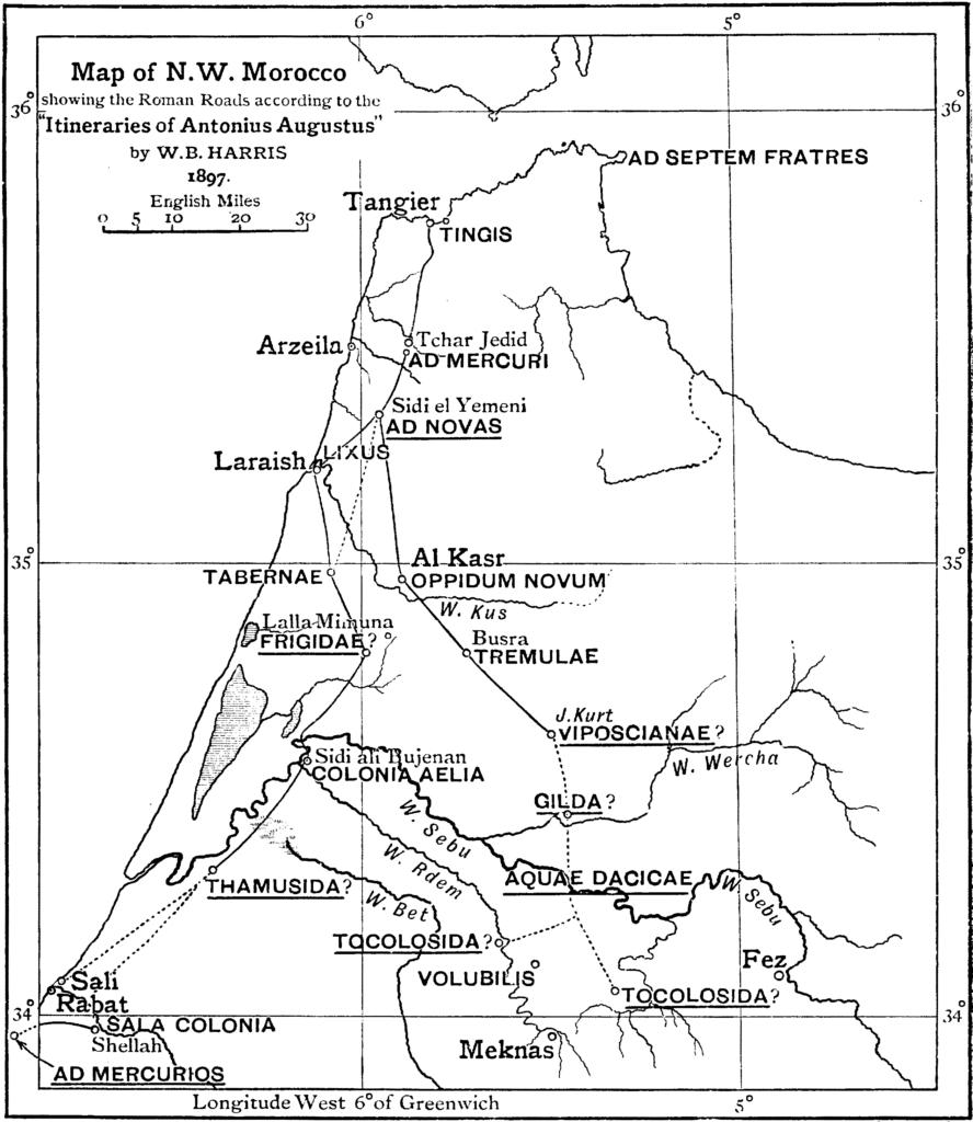 Roman_roads_in_Morocco,_according_to_W._B._Harris_(1897)
